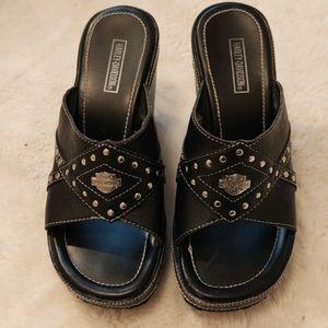Harley Davidson Solid Wedge Shoes